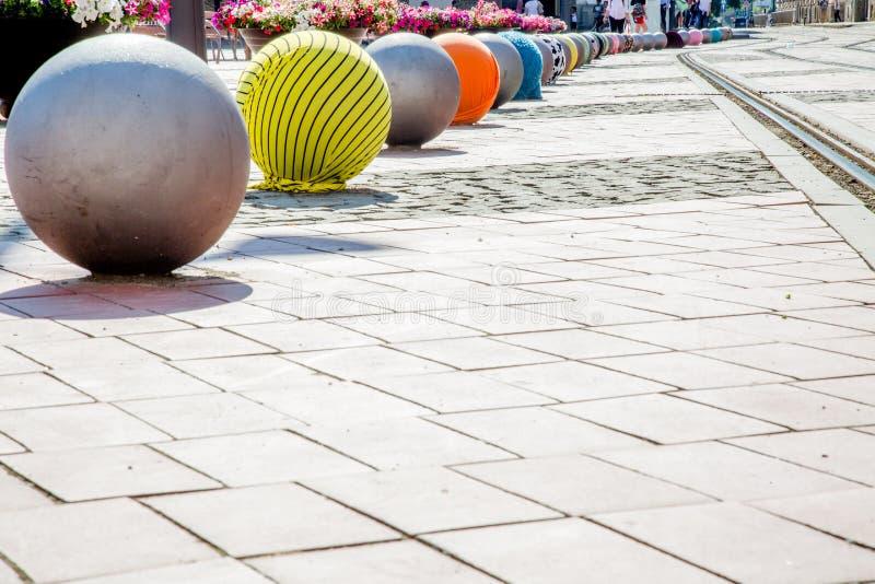 Timisoara, le creazioni fatte dai giovani in questa città fotografie stock libere da diritti