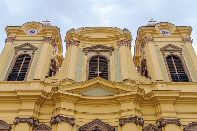 TIMISOARA - 15 OKTOBER, 2016 Roman Catholic Episcopal Church i Timisoara, Rumänien arkivfoto