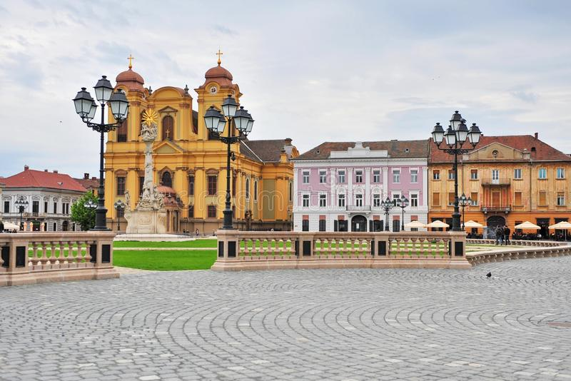 TImisoara old town. View of historical center of Timisoara, Romania stock photography
