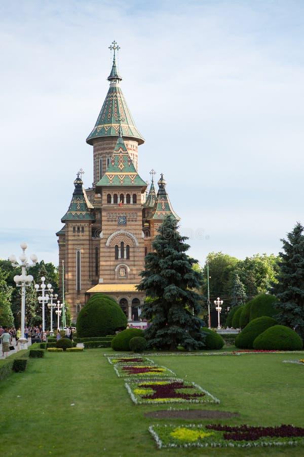 Timisoara Orthodox Cathedral, Romania stock photo