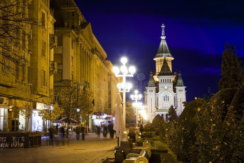 Timisoara ortodox domkyrka, Rumänien royaltyfria bilder