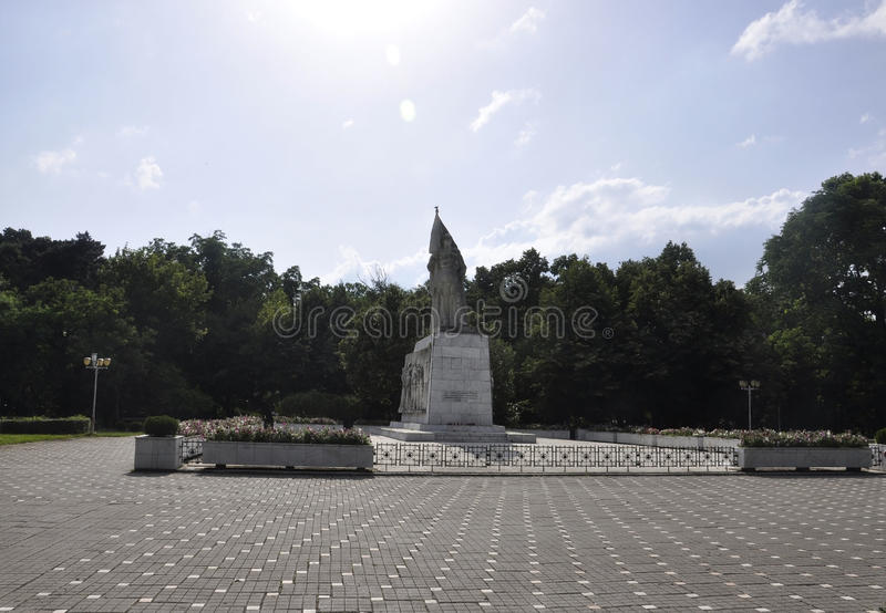 Timisoara RO, June 21th: Central Park Monument in Timisoara town from Banat county in Romania. Central Park Monument in Timisoara town from Banat county in royalty free stock photos