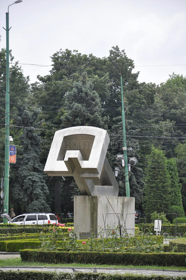 Timisoara RO, June 21th: Monument to the Heroes from Victory Square in Timisoara town from Banat county in Romania. Monument to the Heroes from Victory Square in royalty free stock image