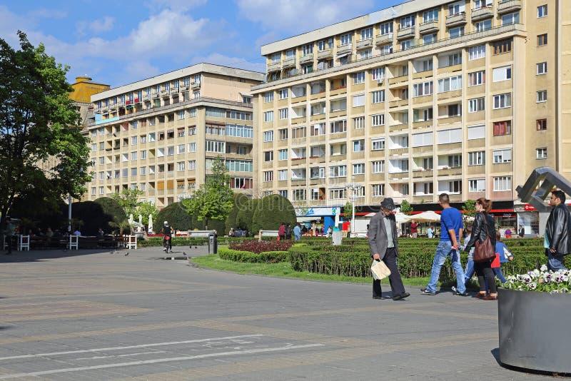 Timisoara. ROMANIA - APRIL 22: Victory Square in  on APRIL 22, 2013. Piata Victoriei in , Romania stock photos