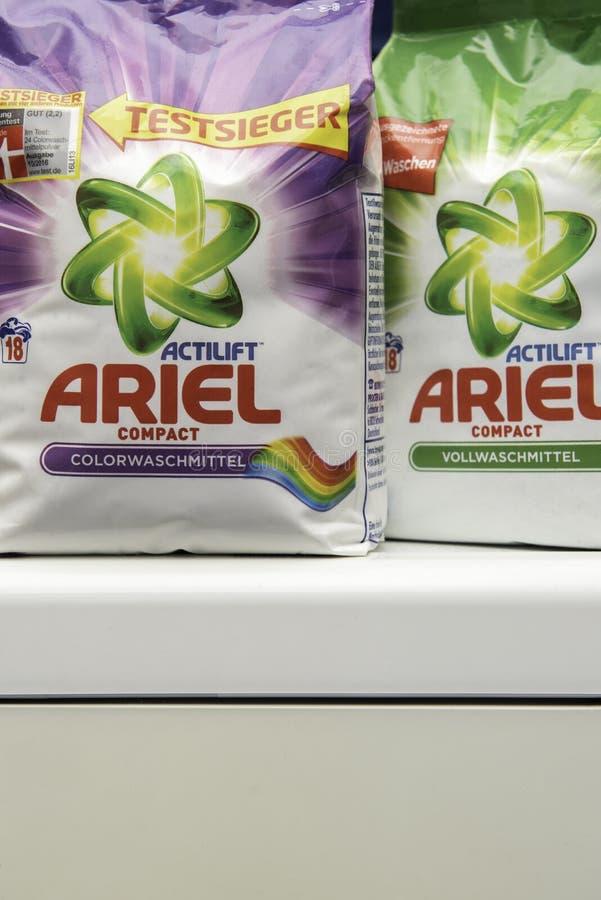 Timisoara, Romania - November 17, 2019: Ariel - Powder Laundry Detergent. royalty free stock image