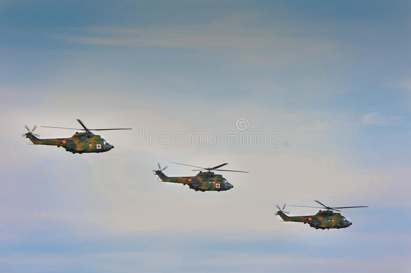 Bajo mandato erótico hacha  Romanian Air Force IAR 330 Puma Helicopter Performing A Demonstration  Flight At Timisoara Airshow Editorial Stock Photo - Image of aviation,  maneuvers: 111167873
