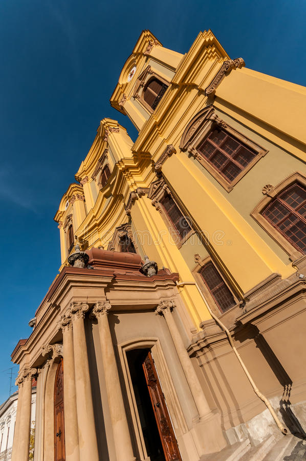 Timisoara romano-Katholieke Koepel stock foto's