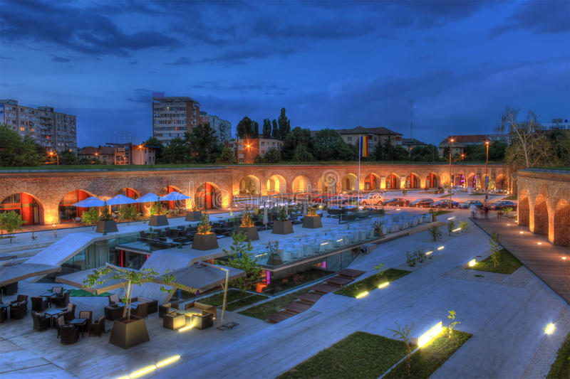 Timisoara's Bastion. Newly renovated Maria Therezia Bastion, the last standing bastion from the old citadel in Timisoara, Romania. HDR image stock photography