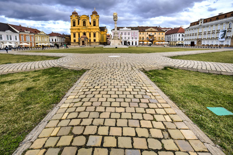 Timisoara`s Union square, Romania royalty free stock photos