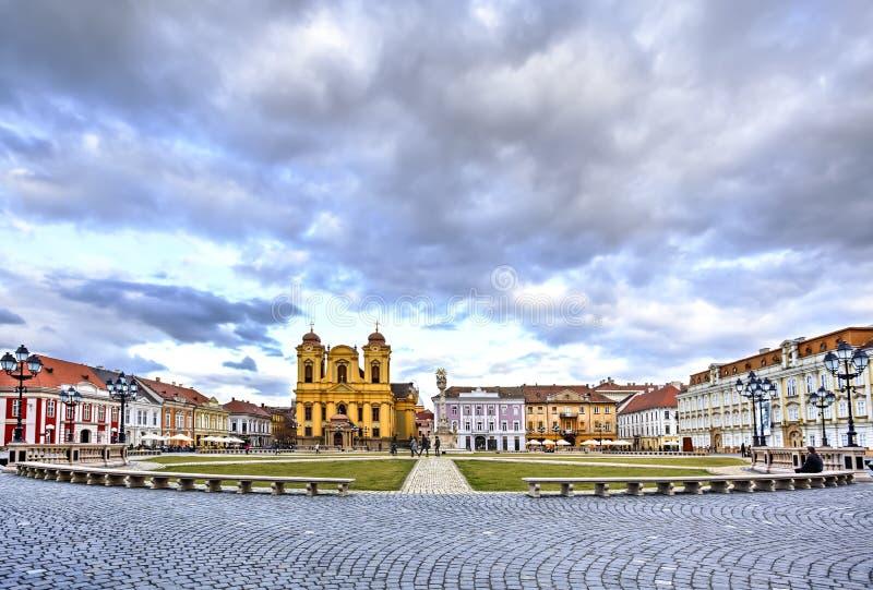 Timisoara`s Union square, Romania. Union square or Unirii Square is the main square of the city of Timisoara, Romania royalty free stock image