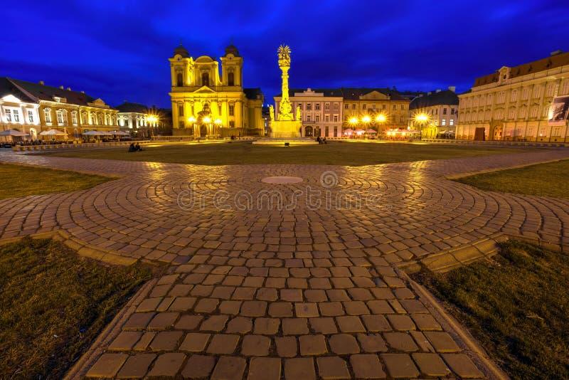 Timisoara`s Union square, Romania stock photos