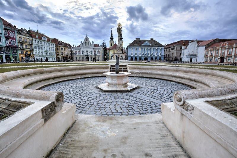Timisoara`s Union square, Romania stock photo