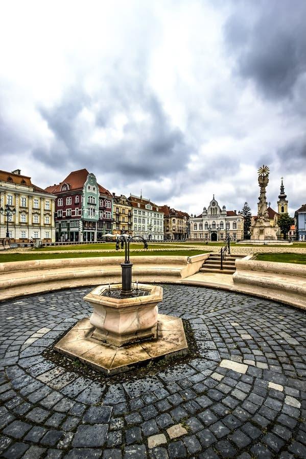 Timisoara ` s zjednoczenia kwadrat, Rumunia obraz stock