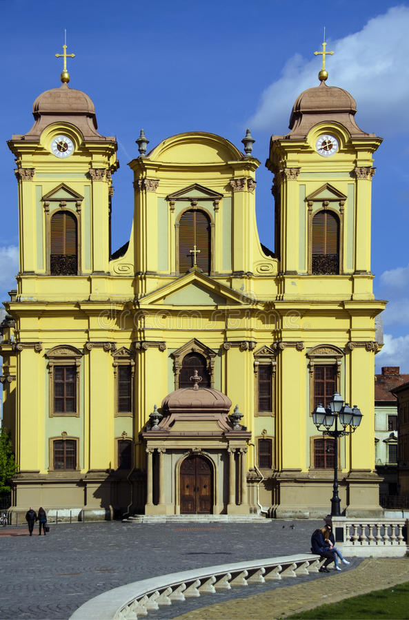Timisoara. Saint George roman catholic church in Timisoara, Romania royalty free stock photo