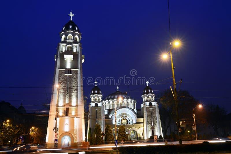 Timisoara stadsSinaia kyrka royaltyfria bilder