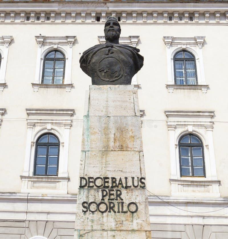 Timisoara statue of Decebal royalty free stock photo