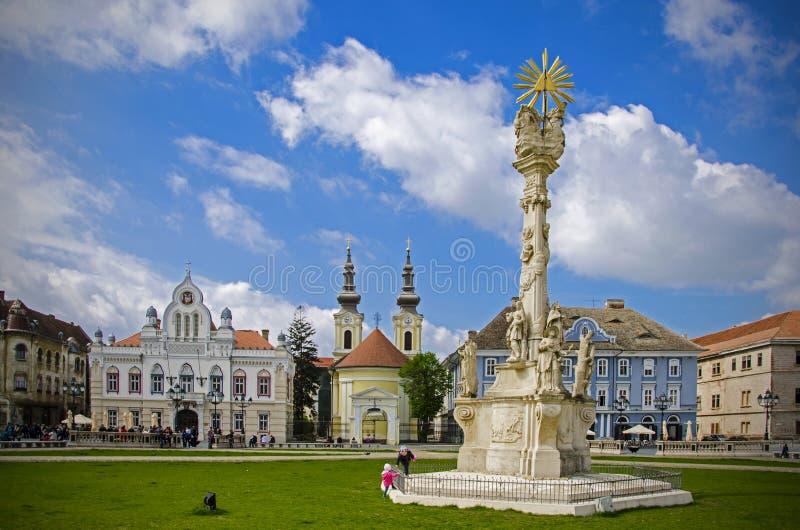 Timisoara. Union Square Piata Unirii in Timisoara, Romania royalty free stock photo