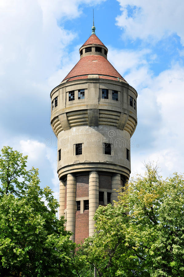 Timisoara vattentorn fotografering för bildbyråer