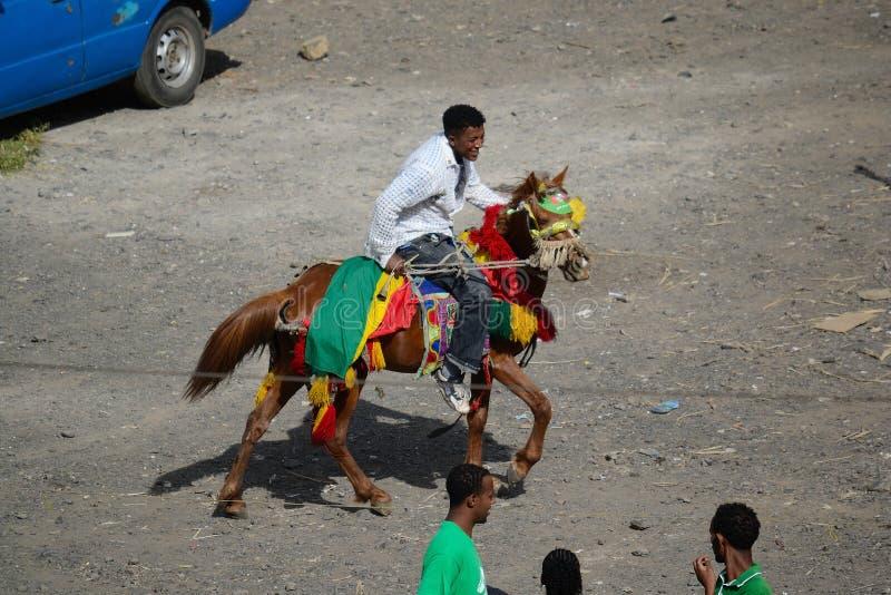 Timkat beröm i Etiopien royaltyfria bilder