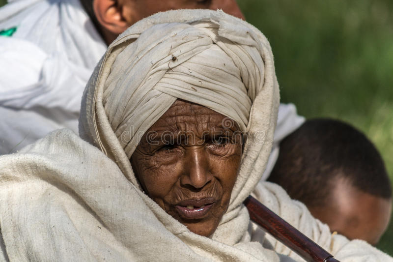 Timkat beröm i Etiopien royaltyfri foto