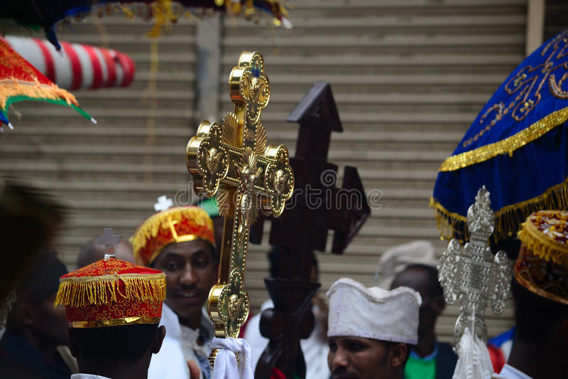 Timkat celebration in Ethiopia stock photography