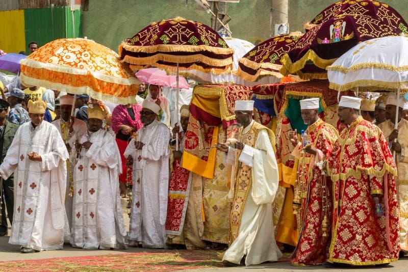 Timket, ο αιθιοπικός ορθόδοξος εορτασμός Epiphany στοκ εικόνα με δικαίωμα ελεύθερης χρήσης