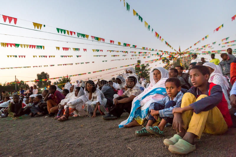 Timket, la célébration orthodoxe éthiopienne de l'épiphanie images stock