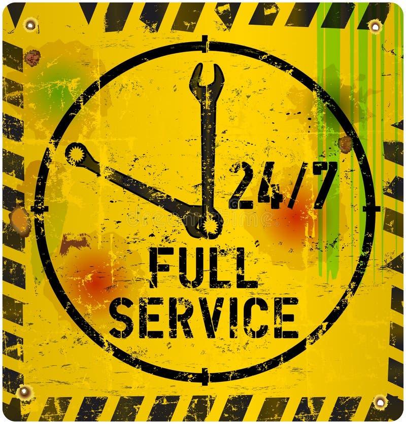 24 timmar servar tecknet, stock illustrationer
