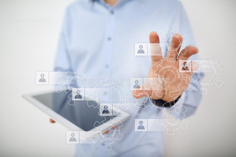 Timme-personalresursledning Rekrytering som hyr, Team Building Organisationsstruktur arkivfoton