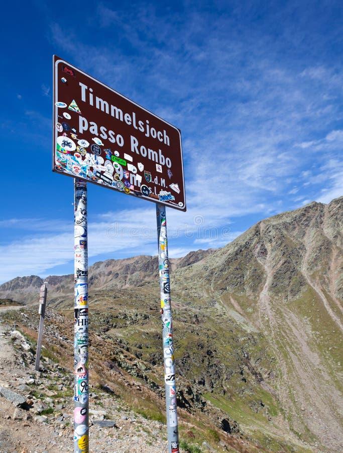 Timmelsjoch Passo Rombo wysokiej góry przepustka między Austria i Włochy zdjęcia stock