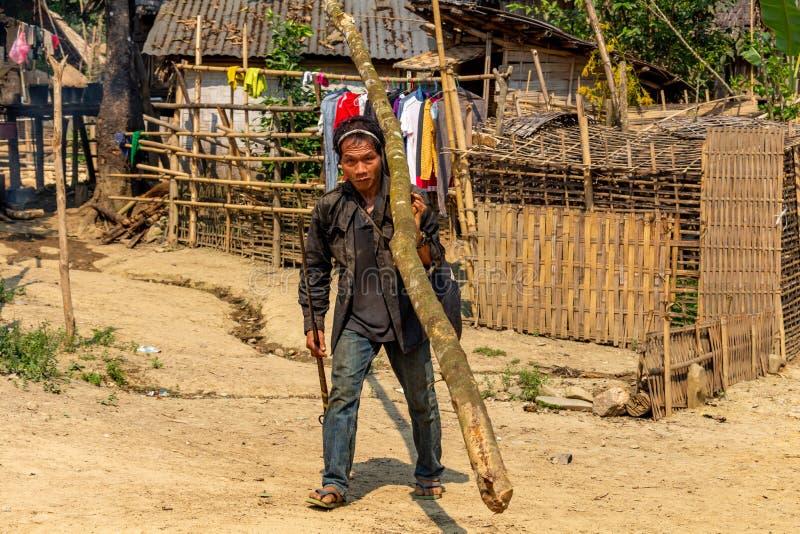 Timmerhout noordelijk Laos stock fotografie