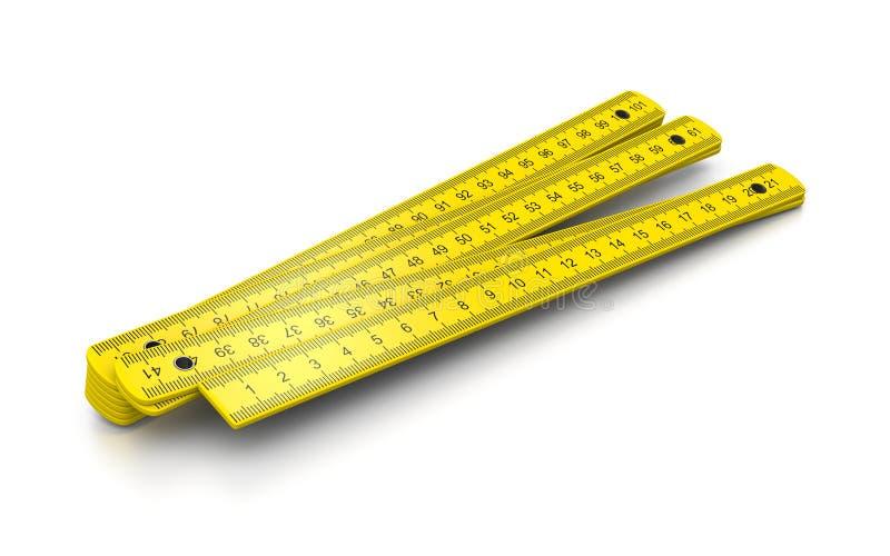 Timmerman Meter vector illustratie