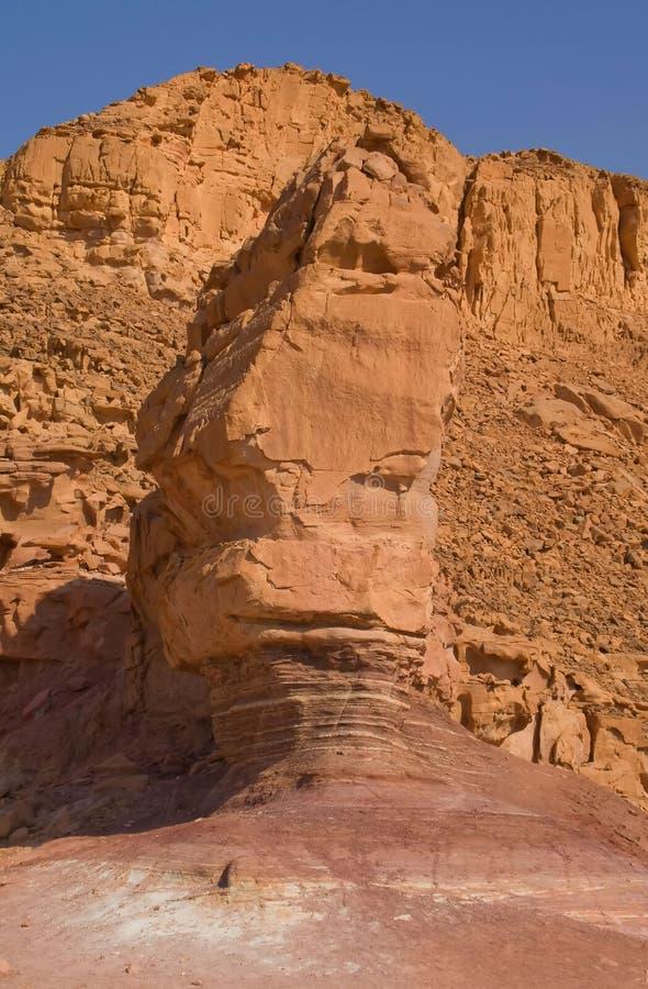timna βράχου πάρκων του Ισραήλ στοκ φωτογραφία