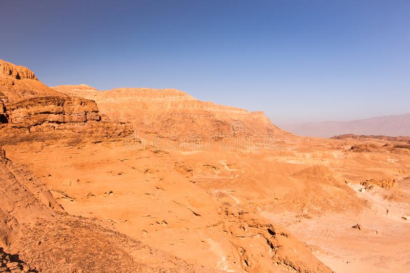 Timna Park, beautiful desert near Eilat. Israel. Place for hiking, trekking royalty free stock photo