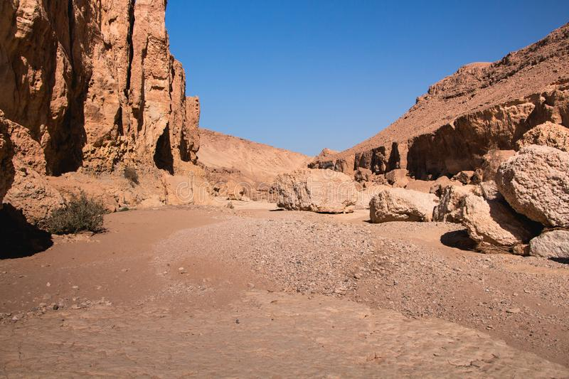 Timna Park, beautiful desert near Eilat. Israel. Place for hiking, trekking stock image