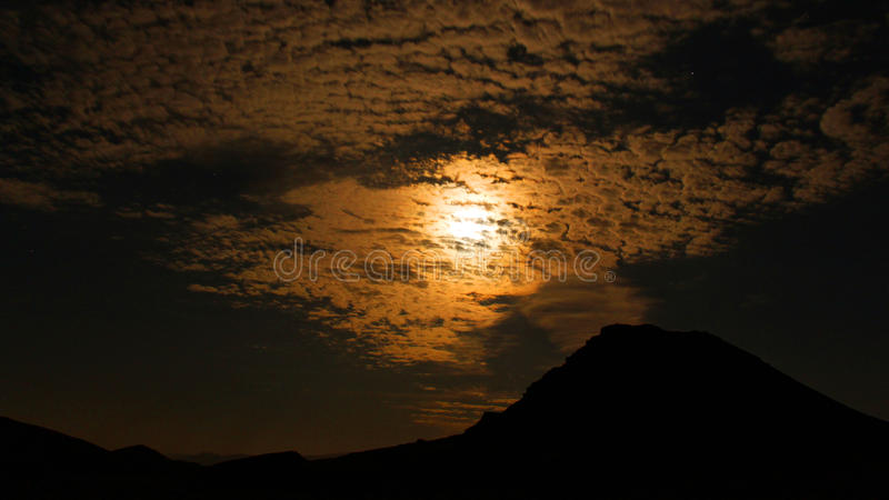 Timna Park. Near Eilat, Israel night shouts royalty free stock photos