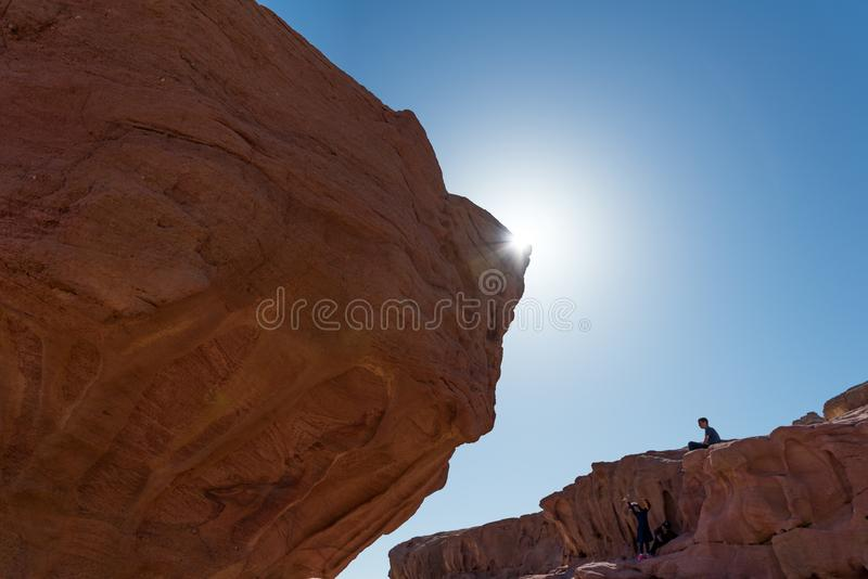 At Timna Park, near Eilat. Israel royalty free stock photo