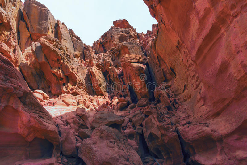 Timna Park. A protected area in the desert in southern Israel near Eilat stock photo