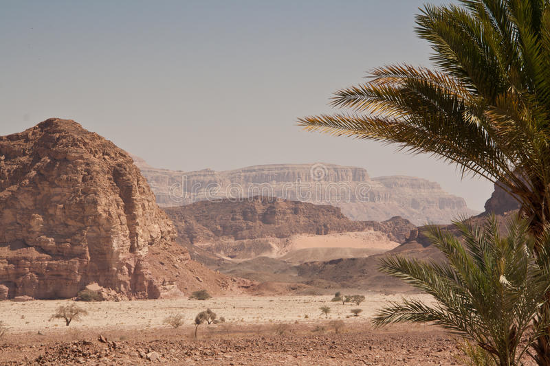 Timna park. This scenics place located in Israel near Eilat. It is called Timna Park. In the Arabian desert stock image