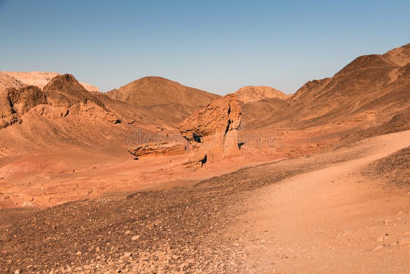 Timna-Park, schöne Wüste nahe Elat stockbilder