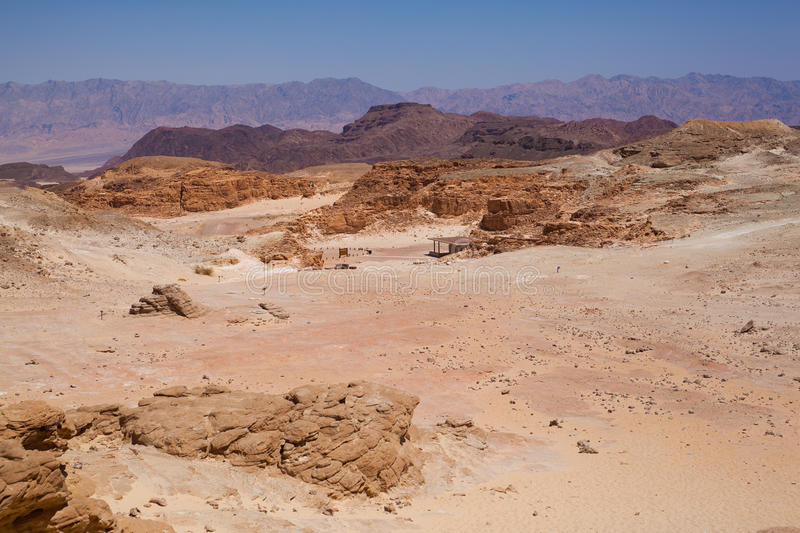 Timna park. Solomon's cooper mine near eilat stock photos