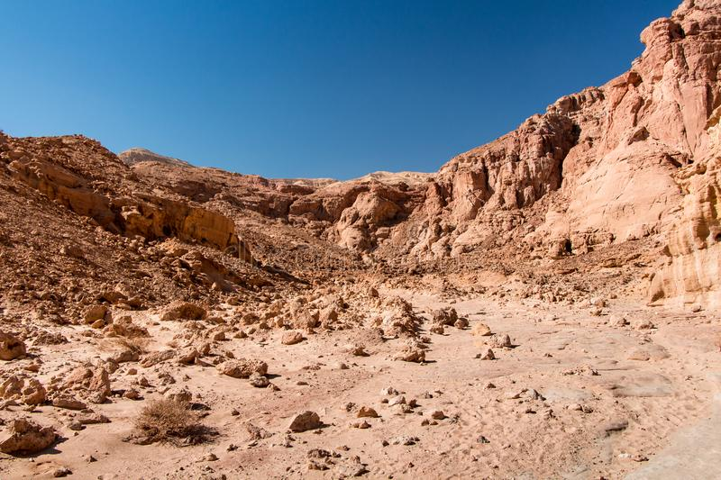 Timna Park. Beautiful desert near Eilat, Israel. Place for hiking, trekking stock image