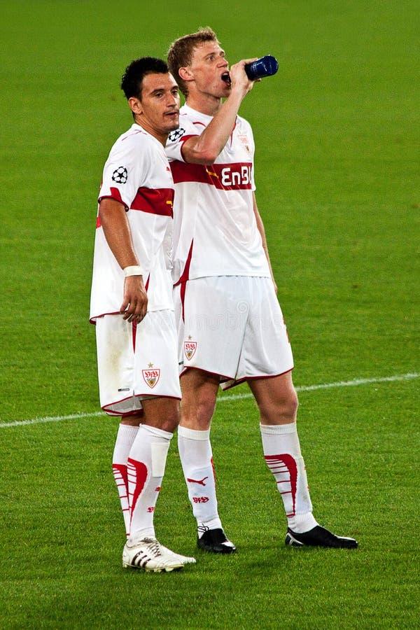 Timo Gebhart and Pavel Pogrebnyak royalty free stock photo