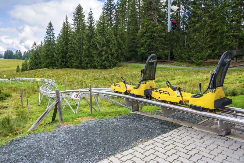 Timoks Alpiene Onderlegger voor glazen in Fieberbrunn, Tirol, Oostenrijk stock foto