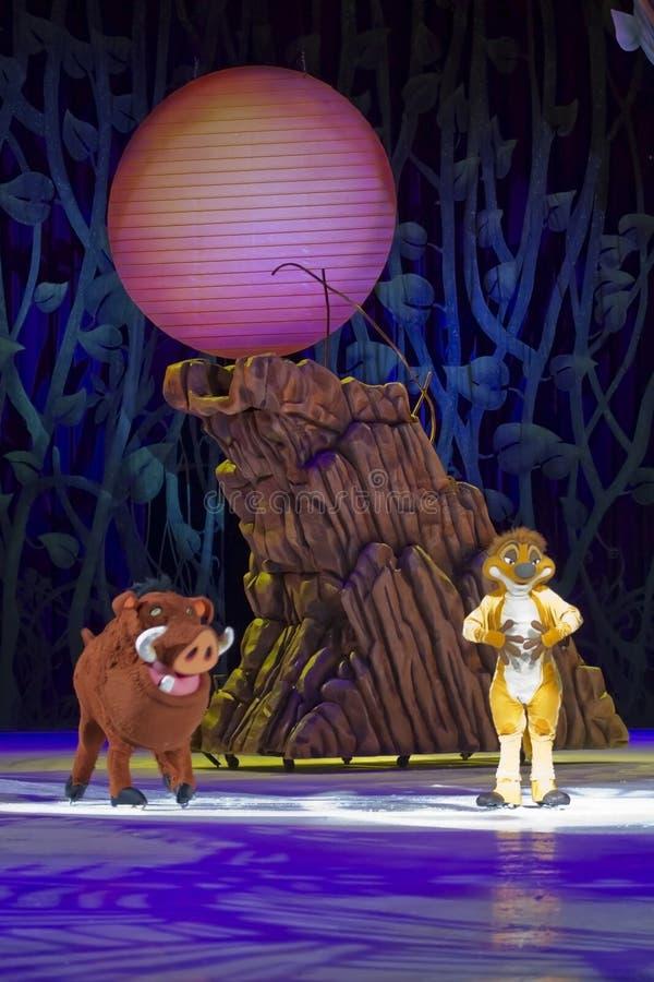 Timon en Pumbaa op Vleten royalty-vrije stock foto