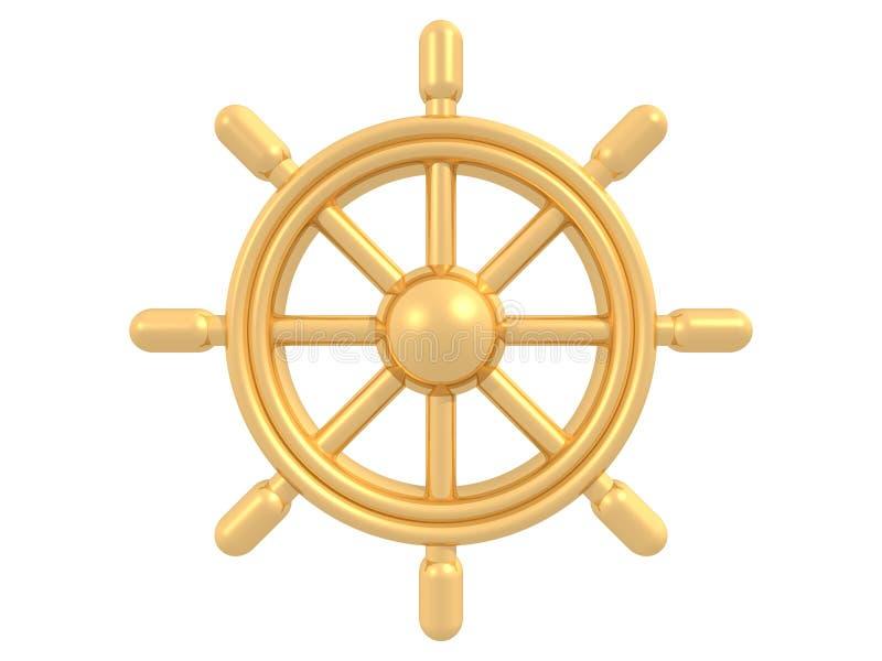 Timone dorato illustrazione di stock