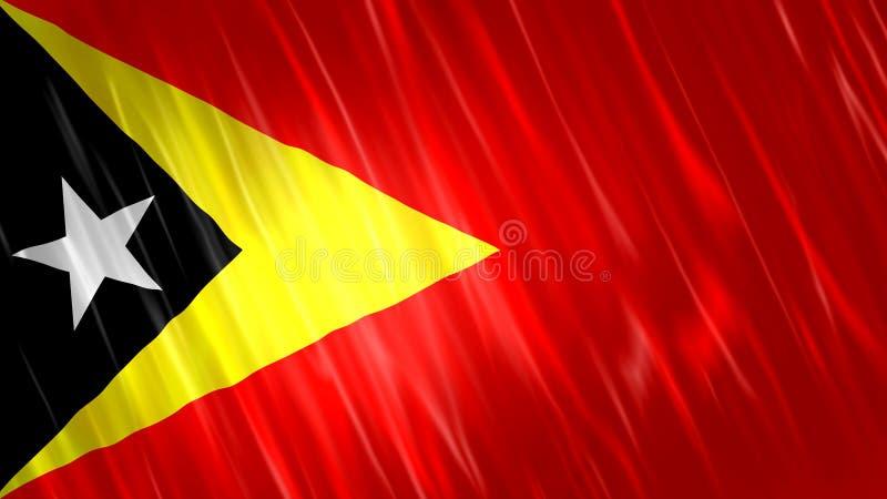 Timor-Leste flagga vektor illustrationer
