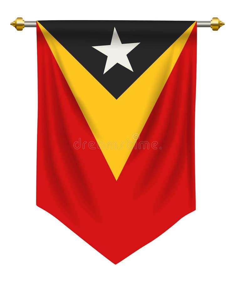 Timor Leste Pennant stock illustrationer