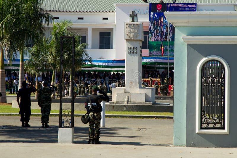 Timor Oriental comemora o dia nacional do exército fotografia de stock