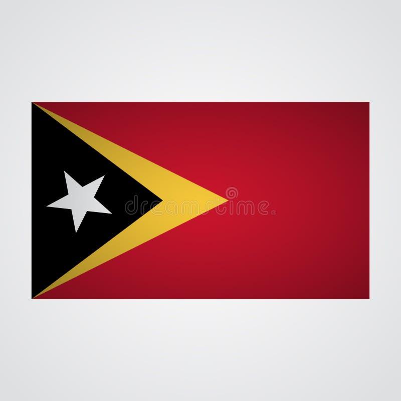 Timor Wschodni flaga na szarym tle również zwrócić corel ilustracji wektora royalty ilustracja